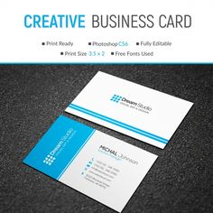 Mockup Of Business Card With Blue Lines Beauty Business Cards, Cool Business Cards, Business Card Design, Free Printable Business Cards, Company Letterhead, Blue Line, Free Prints, Print Templates, Mockup