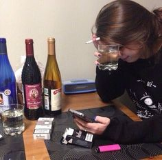 cigarettes and alcohol :) Crying Aesthetic, Alcohol Aesthetic, Bad Girl Aesthetic, Aesthetic Grunge, Aesthetic Photo, Aesthetic Pictures, Crying Tumblr, Rauch Fotografie, Cigarette Aesthetic