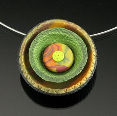 Polymer Clay Pendant Necklace  Polymer Clay by mindfulmatters, $27.00