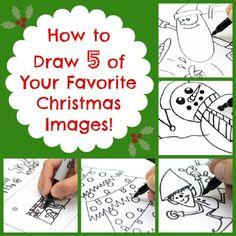 How to Draw Santa, Santa's Elves, a Christmas Tree, and a Snowman | Babble