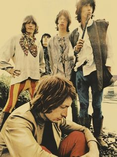 60s low saturation photography Rolling Stones