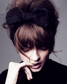 Updo with bow headband