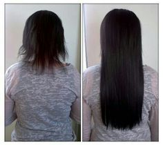 hair extensions! Amazing difference! Long lush and gorgeous now!! MarindaLee Salon in Highland Utah! Check out the salon Facebook page! Stunning before And after pictures!