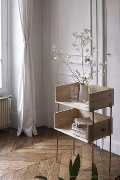 Diy Rustic Decor, Wood Home Decor, Diy Home Decor, Diy Furniture Table, Furniture Projects, Furniture Design, Küchen Design, House Design, Salon Design