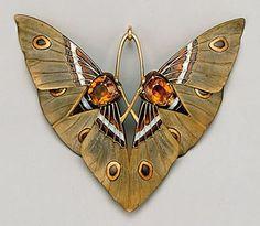 Moth pendant by Lucien Gaillard