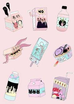 ◇ ғᴏʟʟᴏᴡ ғᴏʀ ᴍᴏʀᴇ ◇ ᴘɪɴᴛᴇʀᴇsᴛ ᴊᴀᴅᴇᴀʟᴏɪsɪᴏ наклейки dekorasi и lucu. Character Illustration, Illustration Art, Unicorn Illustration, Ouvrages D'art, Pinterest Instagram, Ligne Claire, Food Drawing, Creepy Cute, Pastel Art