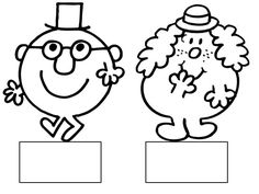 Etiquettes portemanteaux Mr Men Little Miss, Monsieur Madame, Paper Toys, Classroom Decor, Kids And Parenting, Art For Kids, Coloring Pages, Activities, Education