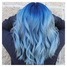21 Blue Hair ideas that you'll love ❤ liked on Polyvore featuring beauty products, haircare, hair styling tools, hair, hairstyles, beauty and curly hair care