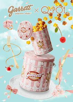 ギャレット ポップコーン×Q-pot.コラボ缶を限定発売、サクラのメレンゲとチェリーの2段ケーキの写真10