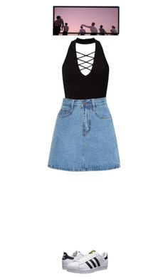 """Untitled #82"" by danielaelena1 on Polyvore featuring Miss Selfridge and adidas Originals"