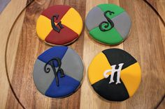 Harry Potter cookies, Hogwarts Houses
