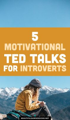 5 motivational TED talks for introverts. In this article, I'm sharing 5 motivational TED talks for introverts. I am an introvert. I can say that with pride today, but it wasn't always that way. Self Development, Personal Development, Inspirational Ted Talks, Ted Talks Video, Self Discipline, Self Confidence, Blogging For Beginners, How To Start A Blog, Self Improvement
