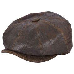 2ad42148e28fc Leather newsboy cap 8 panel flat cap gatsby baker boy cabbie hat uk seller