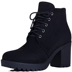 24e042f1b1e Spylovebuy GIRA Women s Lace up Chunky Block Heel Platform Ankle Boots Shoes  - Price  (