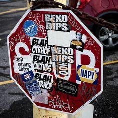 Vandalism or Art? Probably vandalism but still cool. . . . . . #phography  #photographer #nature #macro #closeup #teamcanon #canonphotography #canon #contrast #photo #grunge #art #vandalism #streetart #urban #urbanphotography #urbanexplorer #neworleans #frenchquarter #contrast #berniesanders #stopsign #stickers by ethan_simmons__