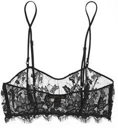 Kiki de Montparnasse Le Reve lace and Silk-Chiffon Soft-Cup Bra