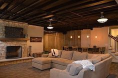 I helped a friend of mine finish his basement but he was not sure what type of ceiling he wanted to put in. There are several options like traditional drywall, tongue and groove boards, acoustic ce… Basement Ceiling Insulation, Basement Ceiling Painted, Basement Ceiling Options, Basement Painting, Basement Ideas, Ceiling Ideas, Basement Remodel Diy, Basement Remodeling, Acoustic Ceiling Tiles