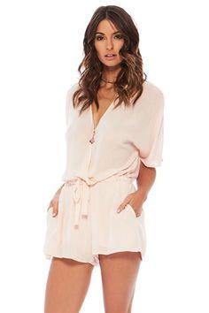 d671073edb63 Romper with pockets and drawstring waist Ombre Maxi Dress