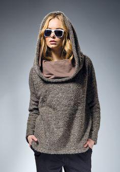 26e35eba82 Sweatshirts - Bluza boucle z kapturem - ein Designerstück von mapepina bei  DaWanda