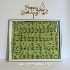 Crochet Art Wall Decor / Always My Mother Forever by KROCHETBYCB