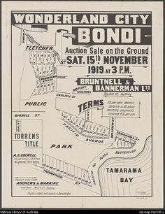 Bruntnell & Bannerman Ltd. Wonderland City, Bondi : auction sale on the ground, Sat. November 1919 at 3 p.