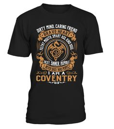COVENTRY Brave Heart Last Name T-Shirt #Coventry