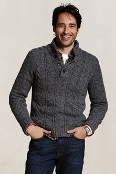 Cable Knit Sweater. Takes a real man to pull off.