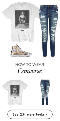 """""""Untitled #2"""" by krye on Polyvore featuring Current/Elliott and Converse"""