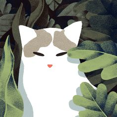 Gif animation cat painting. Jeannie Phan -Yawn- ABOUT Jeannie Phan, a full-time freelance illustrator with a few years of experience under her belt has had the pleasure of working in editorial, book and advertising. Originally hailing from the prairies of Canada, she is now based in a little studio in downtown Toronto's West End. READ MORE http://www.jeanniephan.com/about/