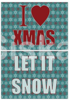 Party SIGNS Printable  Jolly XMAS Party Decorations  by Siskale #etsyspecialt