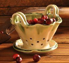 Ceramic Berry Basket .... Lucy Flagella
