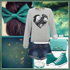 """""""Windy"""" by bogyoemo on Polyvore Converse, Graphic Sweatshirt, Bows, Sweatshirts, Polyvore, Sweaters, Fashion, Arches, Moda"""