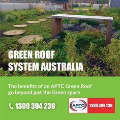 APTC are industry leaders in the supply and installation of Green Roof systems in Melbourne. Benefits of an APTC Green Roof go beyond just the green space. Green Roof System, Green Roofs, Roof Plan, Roofing Systems, Rooftop Garden, Sustainability, Melbourne, Pride, Knowledge