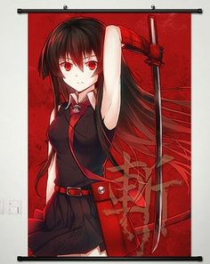 Home Decor Anime Akame ga Kill Wall Scroll Poster Akame 23.6 x 35.4 inches -024 Akame ga Kill http://www.amazon.com/dp/B00MHVYCUO/ref=cm_sw_r_pi_dp_yr66vb1D4XE44