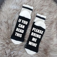 02 - Wine/Beer Socks, Bring me Wine Socks, Funny Socks womens, If you can read this socks, Custom Socks, Mens Socks, Wine Socks, Womens Sock by SOCKDirtyToMe on Etsy https://www.etsy.com/ca/listing/462046154/02-winebeer-socks-bring-me-wine-socks