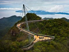 Langwaki Sky Bridge, ponte suspensa na Malásia (Foto: Jim Boud/Creative Commons)