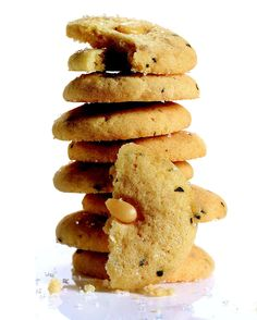 Toasted pine nuts and a splash of best-quality olive oil lend these crumbly-chewy cookies rich flavor. Rosemary adds a savory note to each bite.