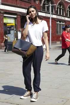 The Review magazine - Palomi's sports luxe look is the epitome of Knightsbridge cool (check out the AW12 Céline bag).