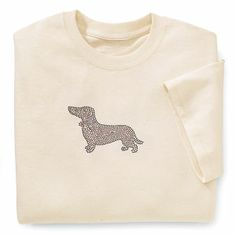 Studded Dachshund T Shirt - Gifts, Clothing, Jewelry, Home Decor and Home Furnishings as Featured in Popular Catalogs | Catalog Favorites. Small-XXLarge. $19.95