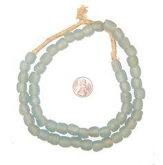 Aqua Recycled Glass Beads (9mm)