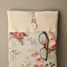 Womens iPad Air 2 or 1 Case Pocket Floral iPad Air by MadeByJulie