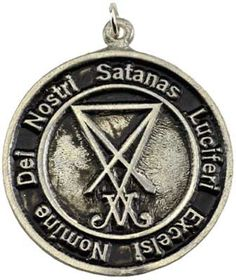 """This amulet depicts the Astaroth's Seal and the Latin inscription """"Dei nostri Satanas. Luciferi exelsi,"""" when translated means:""""In the name is Satan, Lucifer the best, hail the glorious flesh."""" This i"""