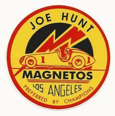 Joe Hunt Magnetos Drag Strip Drag Race Racing Decal