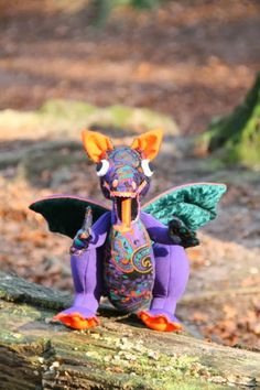 Atelier YT, textile mementoes: Stuffed animals. Dragon as a portrait.