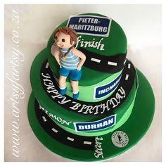 Comrades Marathon Cake #comradesmarathoncake Cupcake Cakes, Cupcakes, Sport Cakes, Marathon, Birthday Cake, Sports, Desserts, Inspiration, Food