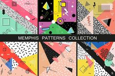 Memphis Patterns. Fashion 80-90s by ExpressShop on @creativemarket