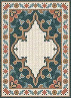 """Résultat de recherche d'images pour """"free persian carpet cross stitch pattern for dollhouses"""""""