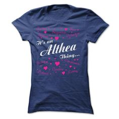 ALTHEA THING AWESOME SHIRT - #sister gift #novio gift. OBTAIN => https://www.sunfrog.com/LifeStyle/ALTHEA-THING-AWESOME-SHIRT-Ladies.html?60505