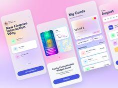 Candy App Finance by Arthur Mineev on Dribbble App Ui Design, Interface Design, User Interface, Branding Design, Web Design, Design Files, Candy App, Ui Design Inspiration, Ui Web