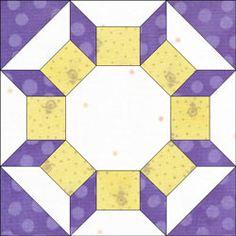Castle Wall quilt block design